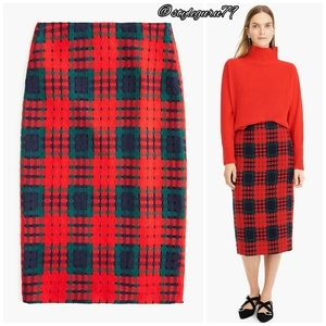J.Crew, Pencil Skirt in Holiday Lattice Print